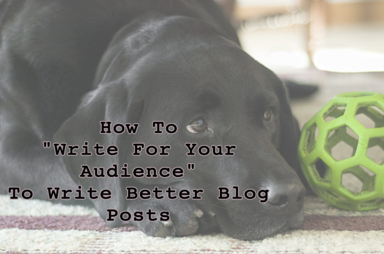 "How To ""Write For Your Audience"" To Write Better Blog Posts"