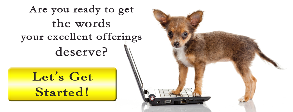 Copywriting service dogs