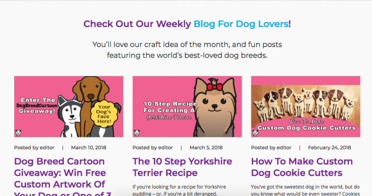 Case Study: 126,814 Pageviews In Dog Breed Cartoon's First Year